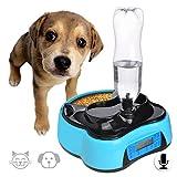Comedero Perro Automatico 1.6L Dispensador Agua Gatos Alimentador Gatos con Temporizador,Ant...