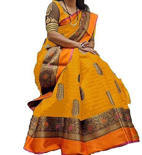 F 4 FASHION Women's Cotton Silk Latest Design Wedding Collection Saree With...