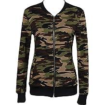 OverDose Damen Herbst Winter Sport Style Fashion Camouflage Jacken Mantel Herbst Winter Street Jacke Frauen Casual Jacken Wärmemantel