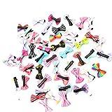 Fliyeong Premium 50 stücke Bowknot Schmetterlingsband Blume Baby Haarnadeln Mini Haarspangen Pin Für Baby Mädchen Kinder Kinder Haarschmuck