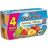 Nestlé naturnes compote de pommes pêches 4 x 130g dès 4/6 mois - ( Prix Unitaire ) - Envoi Rapide Et Soignée