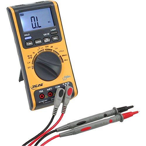 InLine Multimeter für Elektrik Temperatur Luftfeuchtigkeit Helligkeit Lautstärke