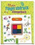 Mein Fingerabdruck-Stempelbuch Tiere: Mit vierfarbigem Stempelkissen