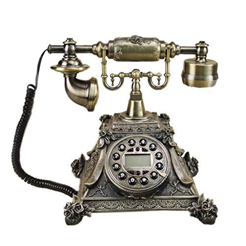 Unbekannt Liuyu · Lebendes Haus Dreidimensionale Blume Retro Telefon Harz Metallknopf Typ Garten Mode Kreative Sitz Europäischen Stil Home Office 2 Farbe 210mm * 235mm * 255mm (Color : Green Patina)