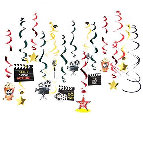 Easy Joy Kino Party Dekoration Film Spiralen 30 Folienspiralen Movie Supplies Deckenhänger Spiral