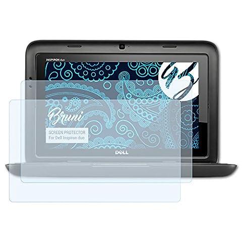 Bruni Dell Inspiron duo Folie - 2 x glasklare Displayschutzfolie Schutzfolie für Dell Inspiron duo (Dell Duo)