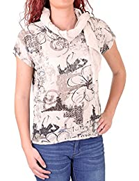 Madonna T-Shirt Damen JOSEPHINE Allover Flower Print Shirt MF-741543