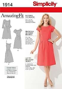 Simplicity 1914 Patrons pour robes femmes Taille 48 à 56