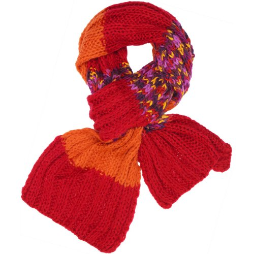 CASPAR - Echarpe en grosses mailles colorées pour femme - plusieurs coloris - SC226