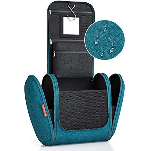Kulturbeutel XXL [Design 2020] Kulturtasche für Männer und Frauen [7 Liter Stauraum], Kosmetiktasche für Mann und Frau, Waschtasche, Waschbeutel zum Aufhängen für Damen & Herren (türkis)