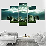 YCWYF Die Stonehenge 5 Stück HD Wallpapers Kunst Leinwand