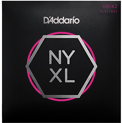 D'Addario NYXL0942 NYXL E-Gitarrensaite Super Light 009 - 042 bis 30% reißfester (String, Electric 009 Guitar)
