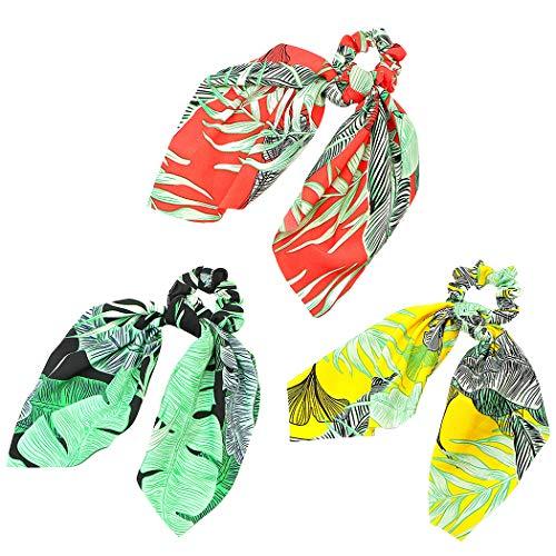 3 STÜCKE Haargummi Set Mode Band Pferdeschwanz Halter Haargummi Band für Frauen
