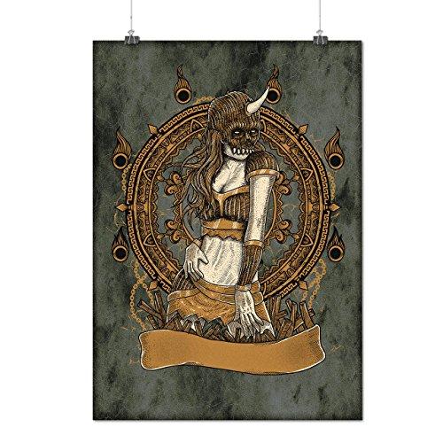 Kostüm Krieger Mädchen Japanische (Satan Mädchen Cool Horror Mattes/Glänzende Plakat A3 (42cm x 30cm) |)