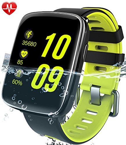 Willful smartwatch con Pulsómetro,Impermeable IP68 Reloj inteligente,Fitness Tracker con cronómetro, Monitor de...