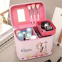 Sac cosmétique cosmétique portable mobile coréen fort dans la boîte de stockage de grande capacité professionnelle portable sac vanity ,American girl,paquet mediumterlayer