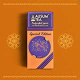 #6: Ausum Tea Assorted Box with 4 Blends | Perfect Taster or Tea Gift Box for Tea Lovers (12 Tea bags) | 100% cotton teabags | Handmade Small Batch | Low Caffeine, No Sugar, No Chemicals, No Preservatives