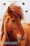 Hausaufgabenheft: mit braunem Pferd, ca. A5, für 1 komplettes Schuljahr