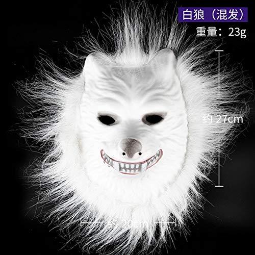 WSJDE Maskierte Kinder Kindergarten Tierkopfschmuck Performance Requisiten AFFE Orang-Utan Wolf steckt Spaß Tiger MaskeBeige (Jesus Affe Kostüm)