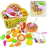 CT-Tribe 35 Teile Plastik Essen Spielzeug Obst Gemüse Schneiden Spielzeug Kochen Spielzeug Küchen Spielzeug Set Küche Kochen Spielzeug