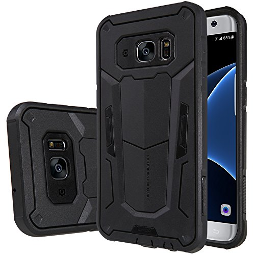 Galaxy S7 Edge Case, Nillkin® [Defender II] Maximum Drop Protection Scratch Dust Proof Armor Hybrid Rugged Shockproof Hard Protective Case Retail Package for Samsung Galaxy S7 Edge (2016) -Black/Black