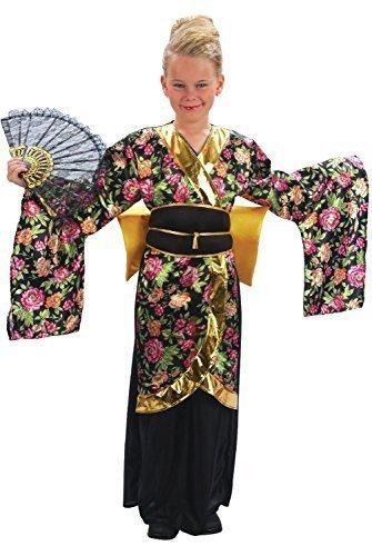 Mädchen Japanisch Chinesisch Geisha Around the World Kostüm Kleid Outfit 4-12 jahre - 7-9 years (Japanische Geisha Kostüme Zubehör)