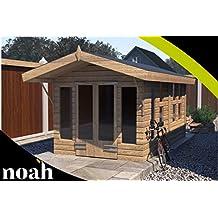 Noah - Cesta de jardín de madera resistente para jardín o taller (24 x 10