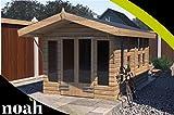 Noah - Cesta de jardín de madera resistente para jardín o taller (24 x 10 cm), diseño de casa de verano