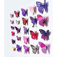 Mariposas multicoloras pegatinas de pared conjunto de 12 piezas Vinilo pegatinas 3D decoración del hogar bricolaje