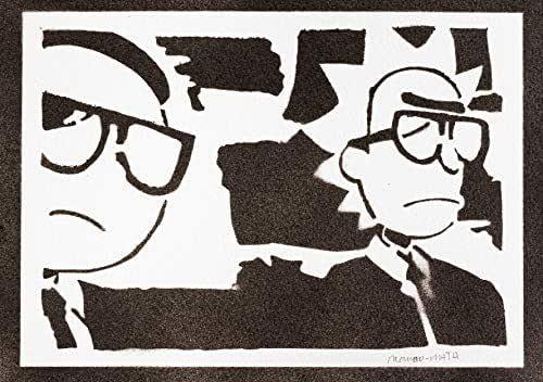 Poster Rick e Morty Handmade Graffiti Street Art - Artwork