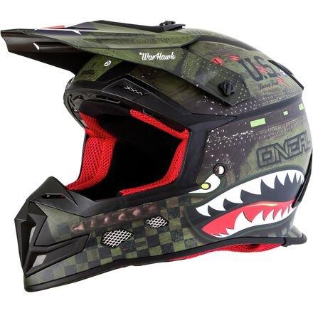 O'Neal 5SRS Adulte Off-road-helmet-style War Hawk casque (Noir/vert, XS)