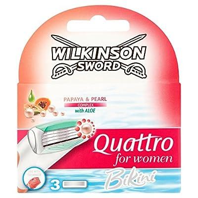 Wilkinson Sword Quattro Bikini Razor Blades for Women
