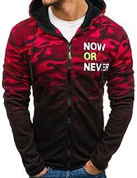 BOLF Herren Kapuzenpullover Sweatshirt mit Reißverschluss Aufnäher Sport Style Mix 1A1