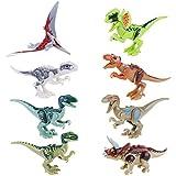 NUOLUX Dinosauro Giocattolo Dinosaur Building Blocks Dinosaur Miniature Action Figures 8pcs