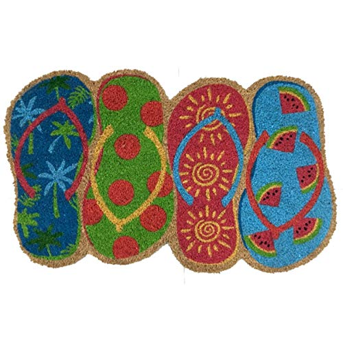 Flip-Flops Fußmatte aus Kokosfaser, für den Außenbereich, 45,7 x 76,2 cm, Brairwood Lane