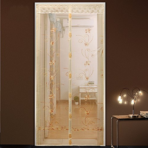 Türen mit magneten bildschirm,Türen für häuser bildschirm Velcro magnetische tür siebgewebe Der moskito Tür vorhang Magnetisch Hohe denisity Abgeschnitten Schlafzimmer Bildschirm-B 85x210cm(33x83inch)