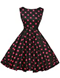 50er rockabilly kleid polka dots kleid swing dress for women petticoat kleid Größe 3XL CL6086-9