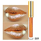 Leey 10 Color Diamond Gloss Rouge à lèvres Womens Magic Glitter Flip Rouge À Lèvres Flip Pull Mat Pearl Pearl Brillant À Lèvres Waterproof Hydratant Brillant Maquillage à Lèvres...