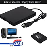 HKFV Externes USB Diskettenlaufwerk Konverter Adapter 3.5″ Portable USB 2.0 External Floppy Disk Drive 1.44MB for Laptop PC Win 7/8/10