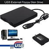 HKFV Externes USB Diskettenlaufwerk Konverter Adapter 3.5″ Portable USB 2.0 External Floppy Disk Drive 1.44MB for Laptop PC Win 7/8/10