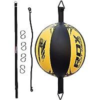 RDX Leder Boxen Speed Bag MMA Double End Dodge Ball Stanz Training Boden zu Decke Seil Workout