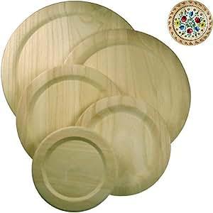 Holzteller 17,5cm, Teller aus Holz zum Bemalen