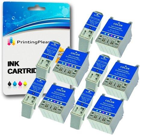 10 Tintenpatronen kompatibel zu Epson T007 T008 für Epson Stylus Photo 780 785EPX 790 825 870 870LE 870SE 875 875DCS 890 895 895EX 915 - Schwarz/Farbig, hohe Kapazität (Epson Stylus Photo Drucker)