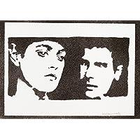 Blade Runner Rachael Y Rick Hecho A Mano - Handmade Street Art Poster