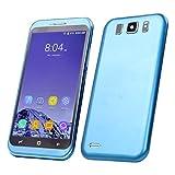 "Sim-Free Smartphone,Unlocked 5.0"" QHD 3G/GSM Dual Sim Cell Phone Android 6.0 MTK6580 Quadcore 1GB RAM + 4GB ROM/GPS Beauty HD 5.0MP Camera Moblie Phone (Navy Blue)"