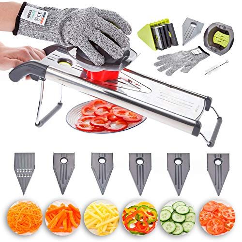 Mandolin Slicer, 6 in 1 Kitchen ...
