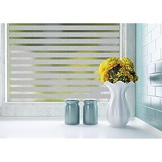 Lifetree 128 Selbstklebend ohne Klebstoff Fensterfolie 2D Statisch Folie Sichtschutzfolie 45 * 200CM