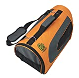 SRI Luxury Pet Carrier Travel Portable Kennel for, Cats, Small Dogs and Puppies(Orange)