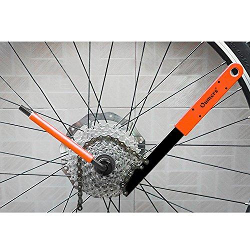 Oumers Herramienta de eliminación de cassette de bicicleta con látigo de cadena llave de la bici Herramienta