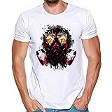 feiXIANG Maglietta per Uomo T-Shirt con Stampa Divertenti Estate Maglia a Maniche Corta Magliette da Escursionismo Camicie Sportive Maglie a Manica Corta Termica RegaloTees ShirtCasual